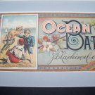 Victorian 1880s OCEAN BATH Larkins Label Chromo Litho