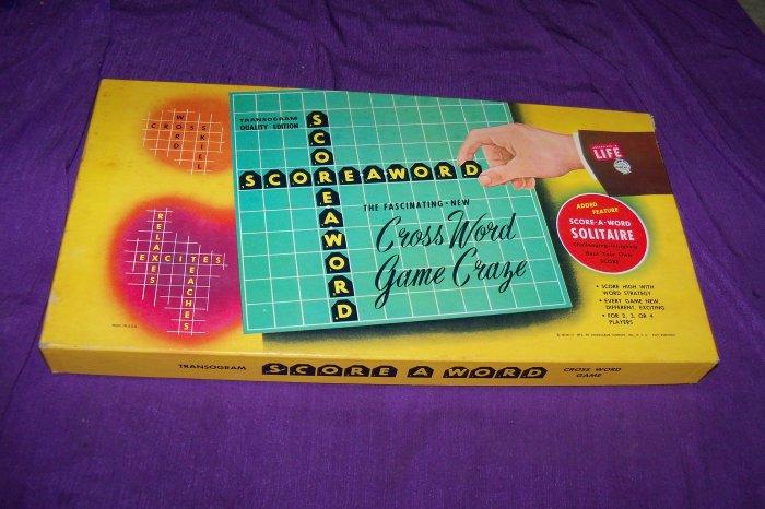 Vintage 1953 Score-A-Word Transogram Board Game