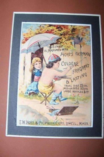 Antique Victorian Trade Card Hoyts Cologne Chromo Litho