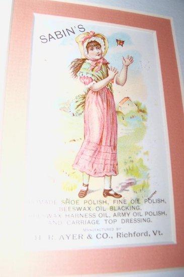 Antique Victorian Trade Card Little Girl Chromo Litho
