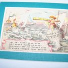 Antique Victorian Trade Card Iron Ware Chromo Litho