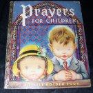 Vintage 1952 PRAYERS FOR CHILDREN A Little Golden Book Eloise Wilkin 1st Ed
