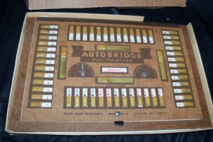 Vintage 1930s AUTOBRIDGE BPA Advanced Set Large Hardboard Game