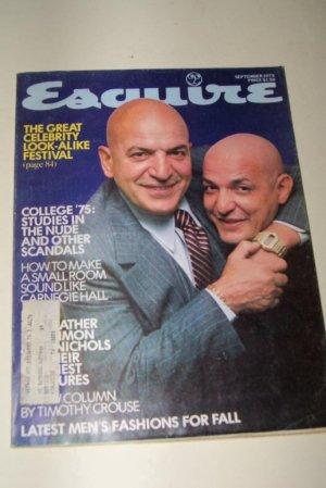 Vintage ESQUIRE Magazine September 1975 Telly Savalas