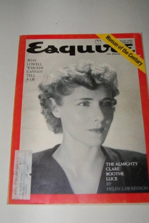 Vintage ESQUIRE Magazine August 1974 Clare Boothe Luce