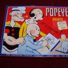 Vintage 1950s-1960s Popeye Tin Paint Set Box, American Crayon Company Toy