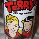 Vintage 1976 Terry and the Pirates Sunday Funnies Premium Promo Drinking Glass