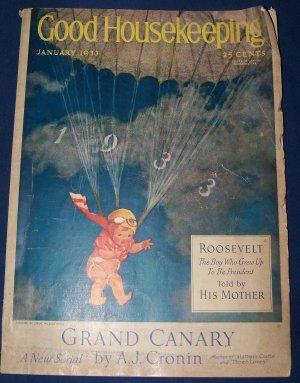 Vintage Good Housekeeping Magazine January 1933 Franklin Roosevelt