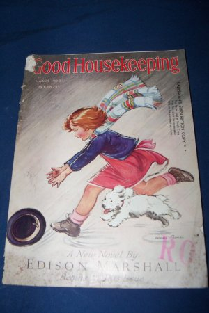 Vintage Good Housekeeping Magazine March 1936 Walt Disney Mickey Mortimer Mouse