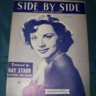Vintage SIDE BY SIDE by Harry Woods Kay Starr Music Sheet