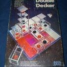 Vintage 1970 DOUBLE DECKER Pressman Strategy 3D Three Dimensional Block Stack Game
