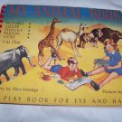 Vintage 1949 My Animal Book Stencil Play Book for Eye Hand Book