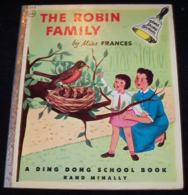 Vintage 1954 THE ROBIN FAMILY Miss Frances Ding Dong School Rand McNally Book HC .