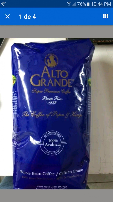 Alto Grande Cafe 2 Lbs,Super Premiun Puerto Rican Coffee Whole Bean Sale
