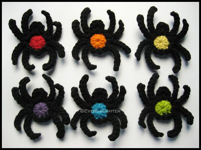 Crochet Spider Applique Pattern