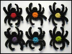 Crochet Spider Applique Pattern