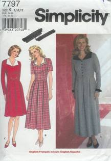 Simplicity Sewing Pattern 7797 Women's Dress (8, 10, 12)