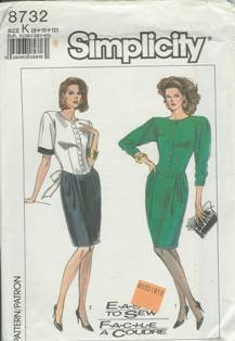 Simplicity Sewing Pattern 8732 Women's Dress (8, 10, 12)