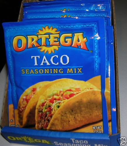 10 PACKS ORTEGA TACO  SEASONING  THINK 4th JULY PARTY