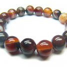 BAGRRS1200X Dark Red Agate Round Shape 10mm Bracelet