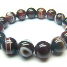 BAGRRS1400X Dark Red Agate Round Shape 12mm Bracelet