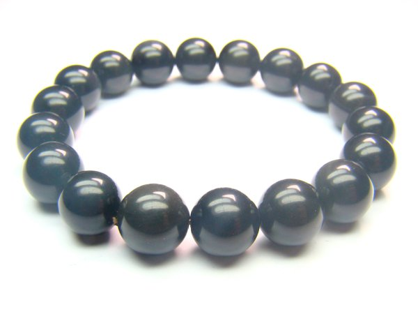 BOBXRS1200X Obsidian  Round Shape  10mm Bracelet