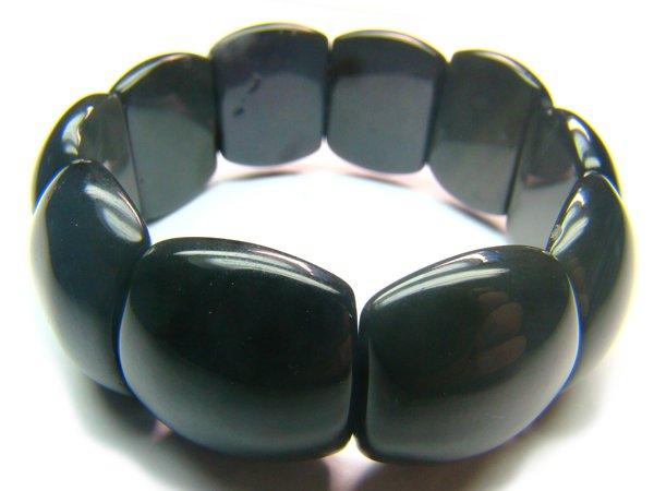 BTEXRS0600X Obsidian  Rectangular   20x24mm Bracelet