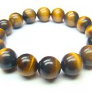 BTEXRS1400X Tiger Eye  Round Shape  12mm Bracelet