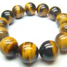 BTEXHS0800X Tiger Eye  Round Shape  16mm Bracelet