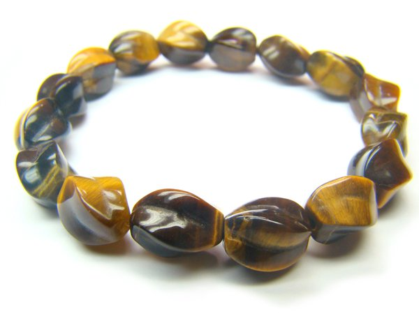 BTEXPE0710X Tiger Eye  S-Shape  7x10mm Bracelet
