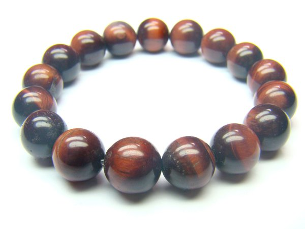 BTERRS1200X Red Tiger Eye  Round Shape  10mm Bracelet
