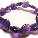 BAMXBR0609C Amethyst  Heart Shape  12mm Bracelet