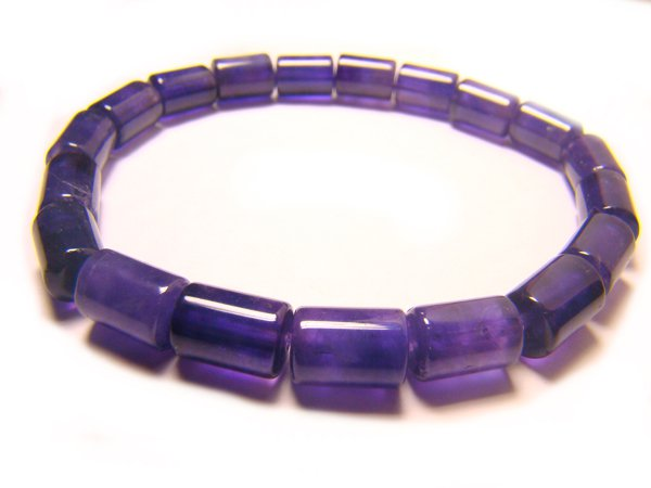 BAMX8S0510X Amethyst  Cylinder Shape  7x9mm Bracelet
