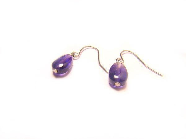 EAMXHS0800X Amethyst  Pear Shape  7x10mm Earrings
