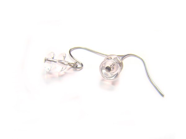 ERCXDO0305C Clear Quartz Donut Shape 3x6mm  Earrings