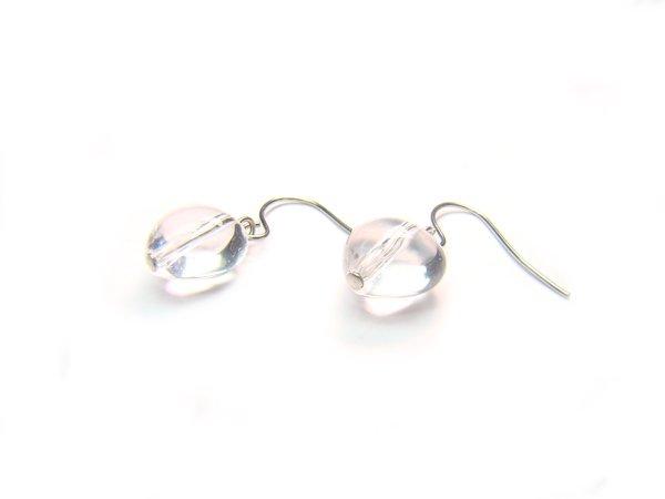 BA9844 Clear Quartz Heart Shape 10mm  Earrings