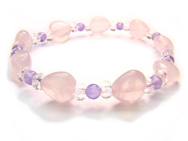 BB17 Rose Quartz Amethyst Clear Quartz Bracelet 20