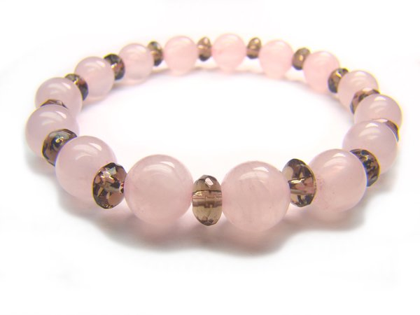 BB26 Rose Quartz Smoky Quartz Clear Quartz Bracelet 3