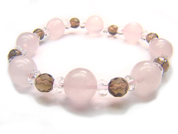 BB33 Rose Quartz Smoky Quartz Clear Quartz Bracelet 4