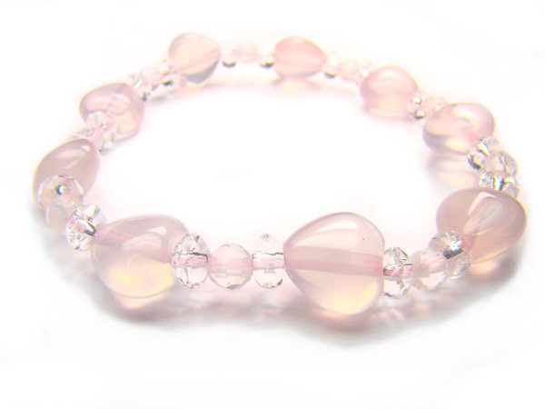 BB15 Rose Quartz Clear Quartz Bracelet 1