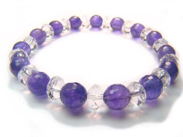 BB27 Amethyst Clear Quartz Bracelet 2