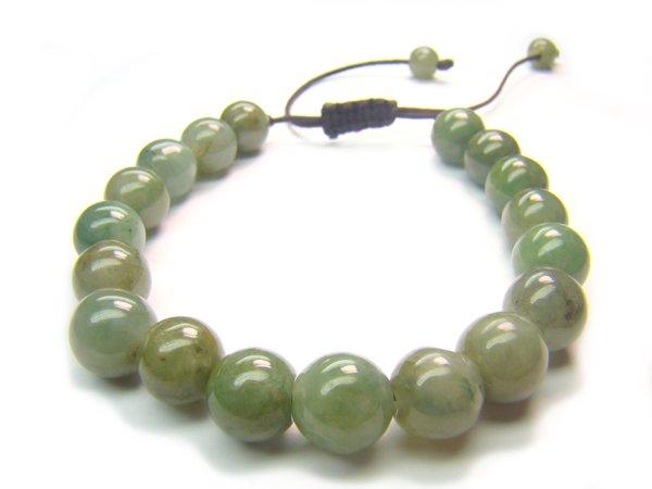 BB0008C Chinese Jade Round Shape 8mm Bracelet