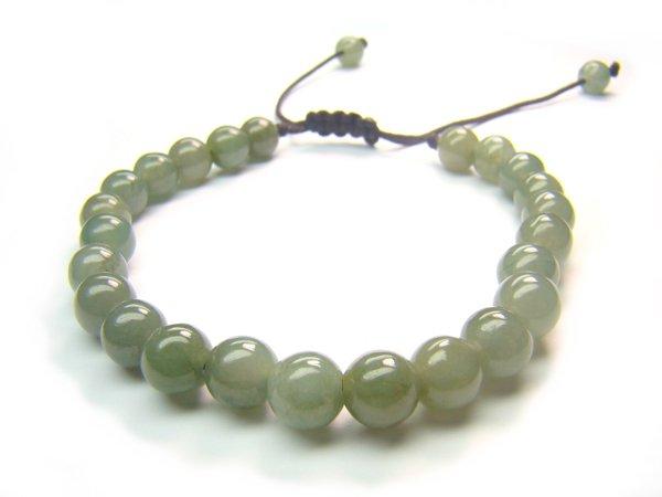 BYJXRS0600X Chinese Jade Round Shape 6mm Bracelet