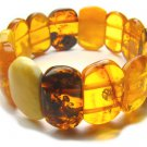 BA9066 Amber Oval Shape 20x13mm Bracelet