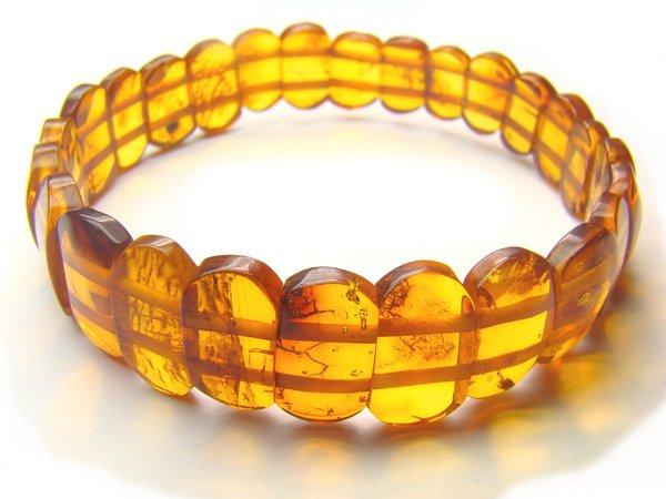 BA9068 Amber Rectangular Shape 11x7mm Bracelet