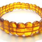 BA9068 Amber Rectangular Shape 11x7mm Bracelet