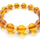BA3554 Amber Round Shape 8mm Bracelet