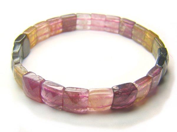 BA6311 Tourmaline Square Shape  Bracelet