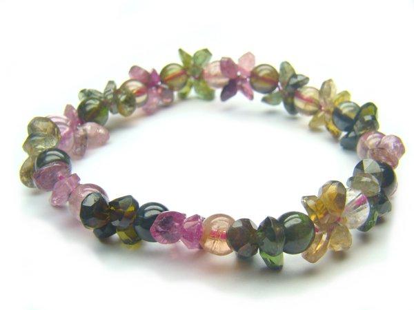 BA9939 Tourmaline Mix Shape  Bracelet