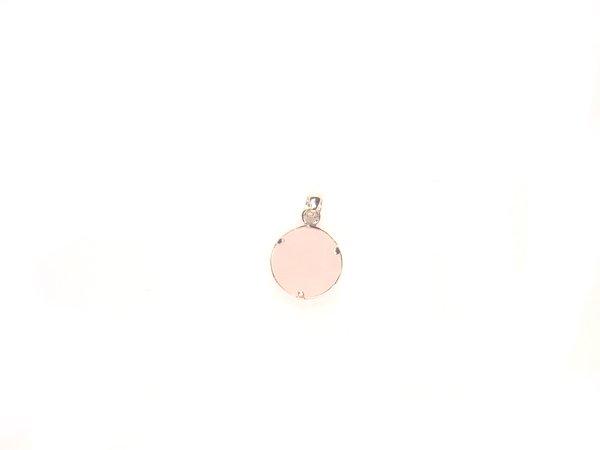 PA1488 Rose Quartz Star of David 10mm Pendant